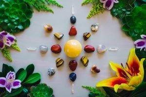 Mandala depicting elements of nature.